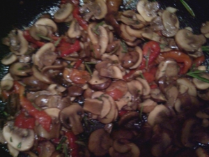 Wild Mushroom Filling for the Crepe